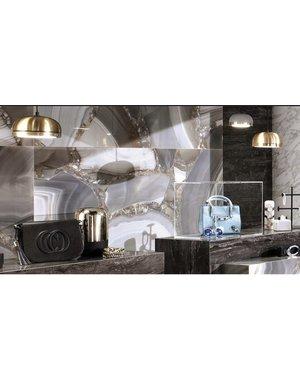 Minoli's Marvel Collection AGATA AZUL LAPPATO 75cm x 150cm Floor and wall tile