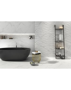 Luxury Tiles Giovanni Decor Waved Matt Marble Effect Feature Wall tile