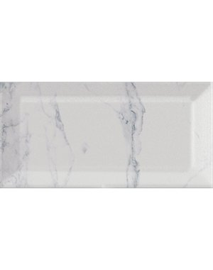 Luxury Tiles Carrara Marble effect Bevelled Metro Tile