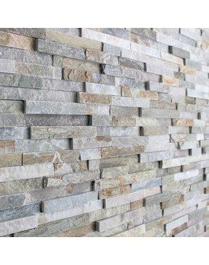 Luxury Tiles Oyster natural stone slate splitface tile 100 x 400mm