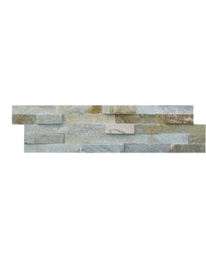 Luxury Tiles Oyster natural stone slate split face tile cladding 100mm x 400mm
