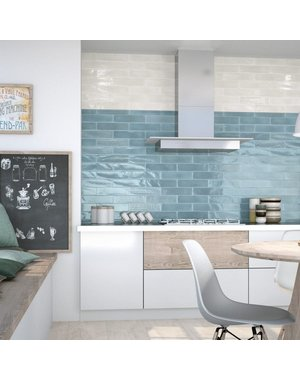 Luxury Tiles Sky Blue Gloss Metro Tile