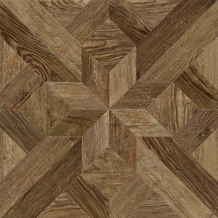 Luxury Tiles Hampton Parquet Deep Natural Wood Effect 600 x 600mm Tile