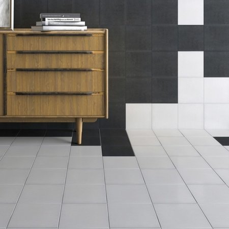 Luxury Tiles Fitzgrovia White and Black wall & floor 20 x 20cm tile