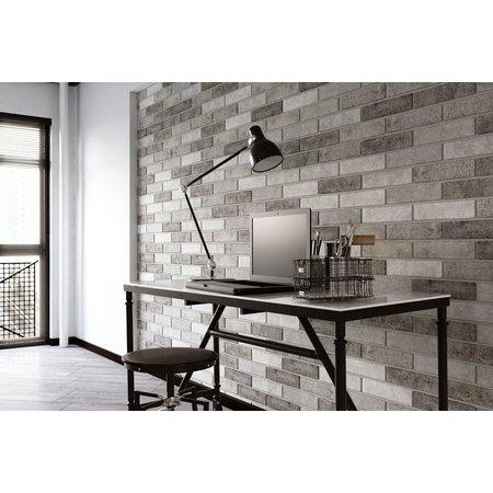 Luxury Tiles New York Grey Brick Effect Wall 60 x 250mm tile