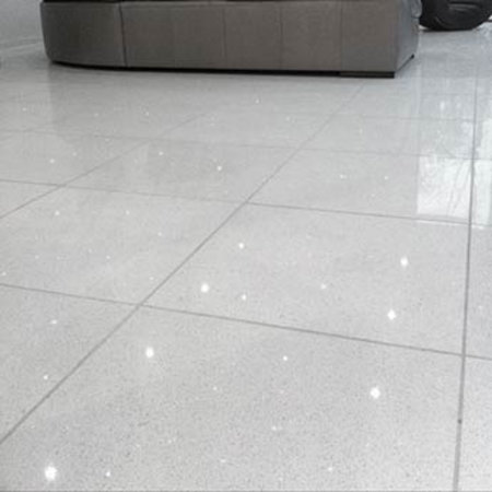 Luxury Tiles Shimmer Blanco White Sparkling Quartz Tile