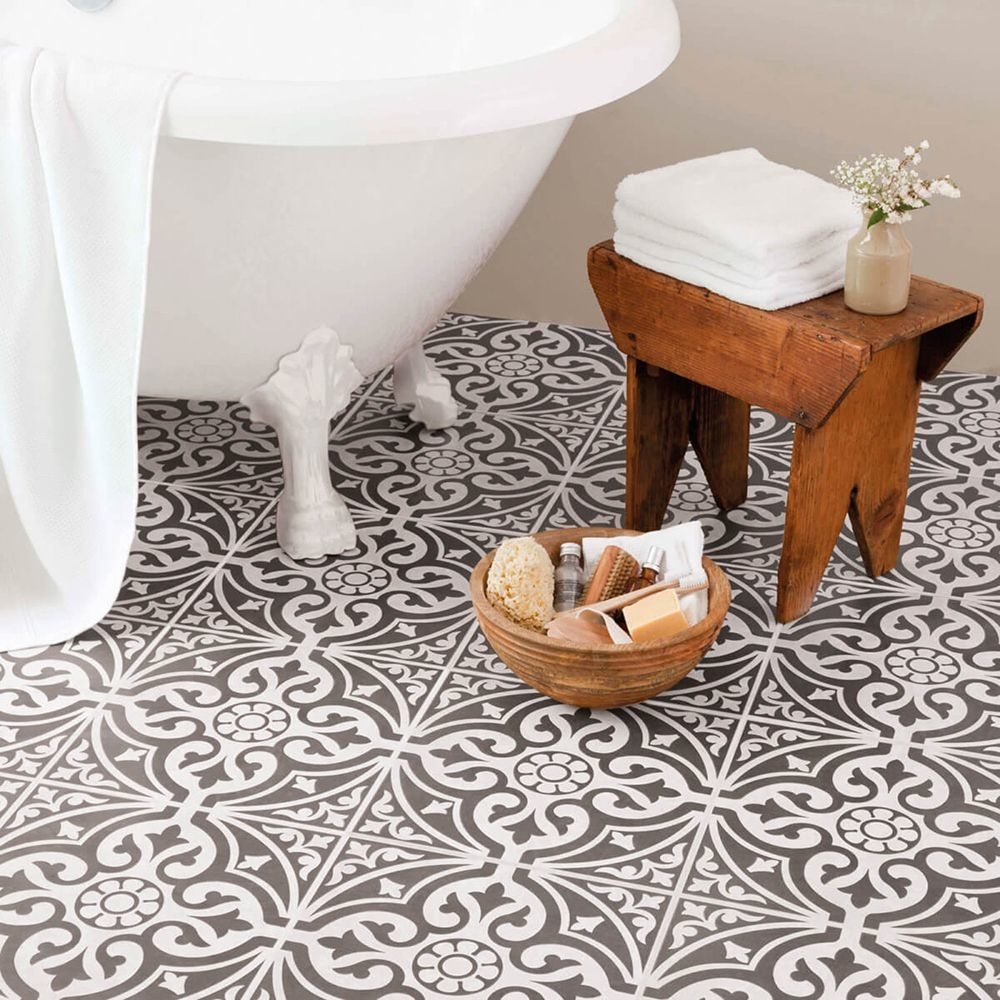 Kingsbridge Grey Patterned Wall And