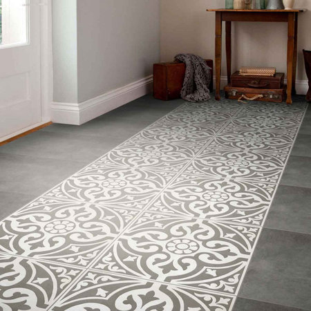 Luxury Tiles Kingsbridge Grey Patterned Wall and Floor Tiles - 33 x 33cm