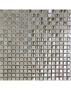 Luxury Tiles Metallic Grey Glass Mosaic Tile