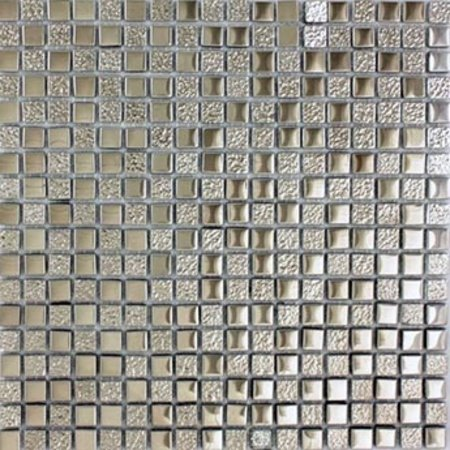 Metallic Grey Gl Mosaic Tile
