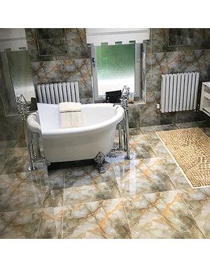 Luxury Tiles Onyx Creama Polished Porcelain Marble effect tile