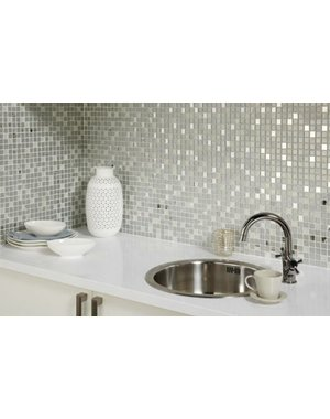 Luxury Tiles Louvre Sparkle Glass Mosaic Tile