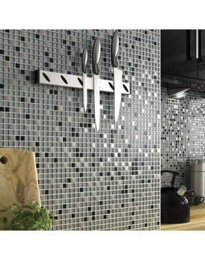 Luxury Tiles Paris Sparkle Black and White Glass Mosaic Tile