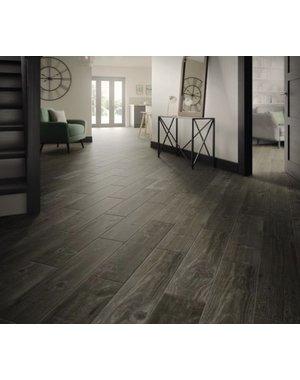 Luxury Tiles Heritage Dark Grey Wood Effect Porcelain Tile