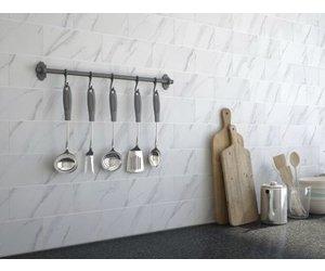 Metro Carrara Marble Effect Matt Wall 200 X 100 Mm Tile Luxury Tiles