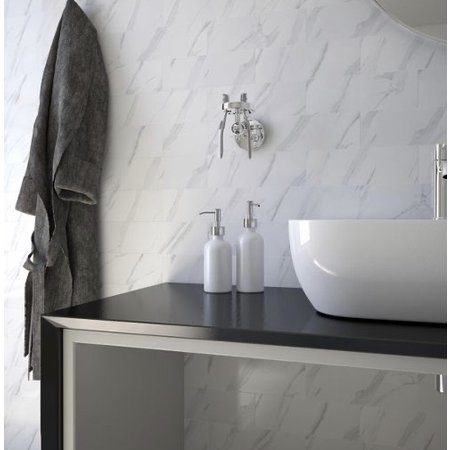 Luxury Tiles Metro Carrara Marble Effect Gloss Wall 300 x 100mm tile