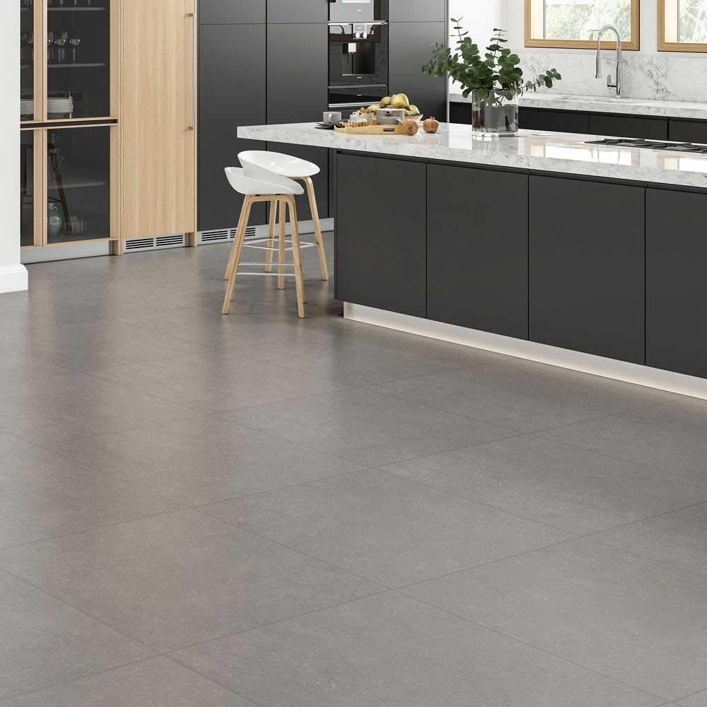 Kingston Grey 605x605 Mm Stone Effect Tile Luxury Tiles