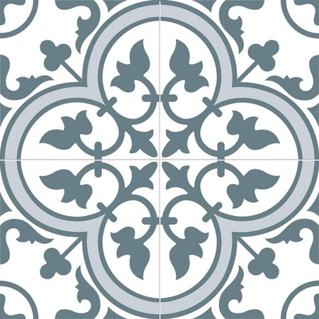 Luxury Tiles Cambridge Blue Traditional Pattern 450 x 450 Tile