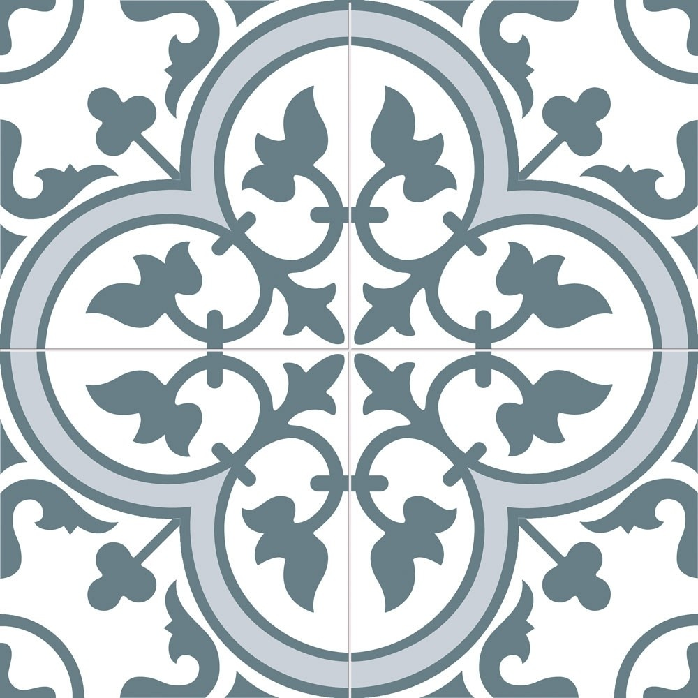 Cambridge Blue Traditional Pattern 450 X 450 Tile Luxury Tiles