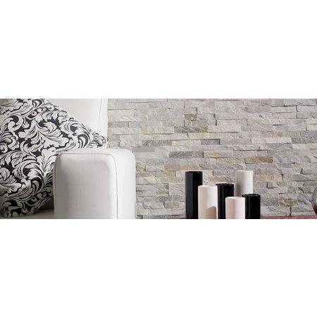 Luxury Tiles Oyster sparkle natural slate split face tile 10x40cm