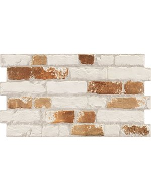 Luxury Tiles Victorian Urban White and Red Brick Effect Tile