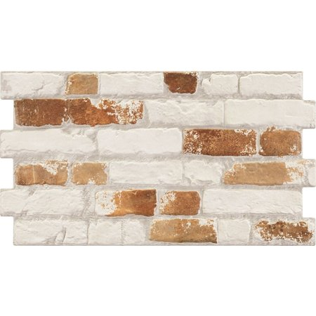 Luxury Tiles Victorian Urban White and Red Brick Effect 316 x 560 mm Tile
