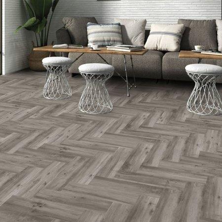 Luxury Tiles Cambridge Silver Wood Effect 589 x 153 mm Tile