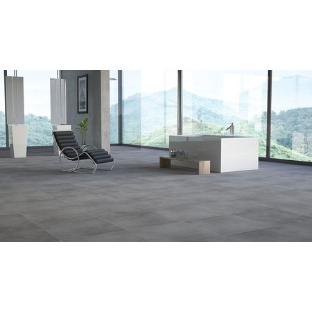 Luxury Tiles Grey Semi Polished 800 x 800 mm tile