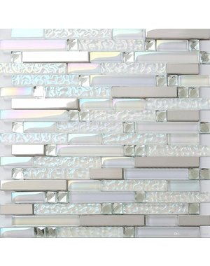 Luxury Tiles Pearly Warm white 30cm x 30cm Mosaic Tile