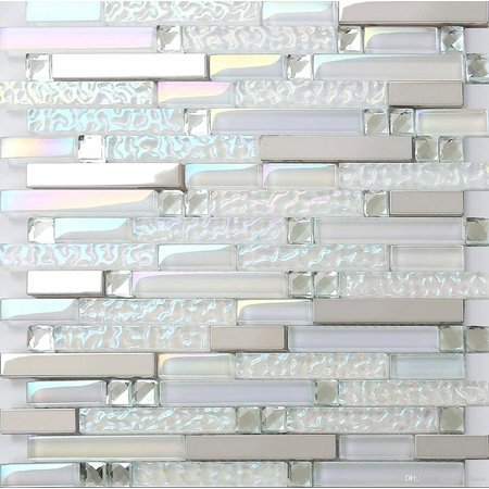 Luxury Tiles Luxor Pearly Warm white 300 x 300mm Mosaic Tile