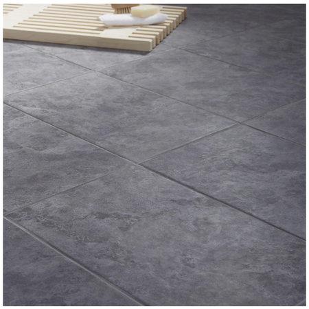 British Ceramic Tiles Oscano Riven Graphite  Wall & floor tile 298x498mm BQ01940