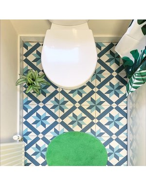 Luxury Tiles Scarlet Patterned Blue Tone Floor Tile