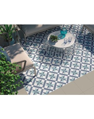 Luxury Tiles Scarlet Patterned Blue Tone Floor Tile