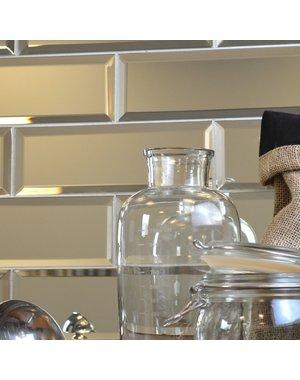 Luxury Tiles Bevelled Silver Mirror Glass Tiles