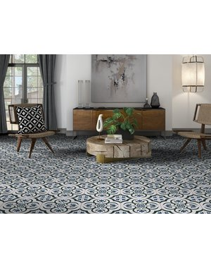 Luxury Tiles Charlotte Blue Pattern Tile