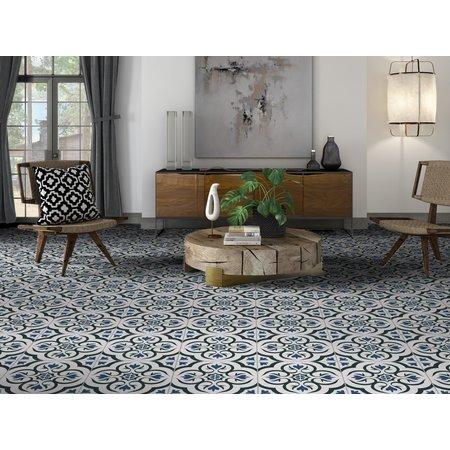 Luxury Tiles Charlotte Blue Pattern 33.3x33.3cm Tile