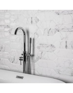 Luxury Tiles Bevelled Blanco Marble Effect 30x10cm Tile