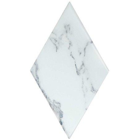 Luxury Tiles Truth Diamond Marble Effect White Ceramic Tile
