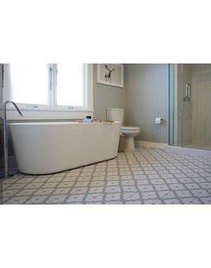Luxury Tiles Kingsly Grey Pattern Porcelain Tile