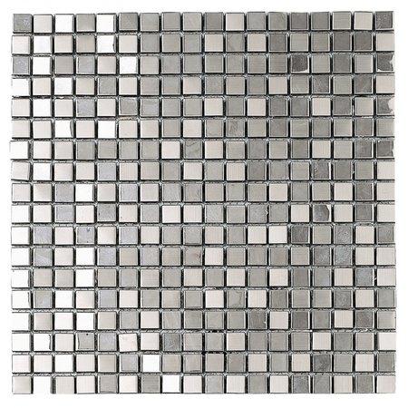 Dune Dune Metallic Silver D940 Mosaic 30.1×30.1 cm Tile