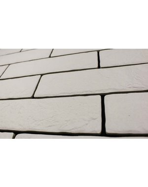 Luxury Tiles Murrano White Brick Wall and Floor tile