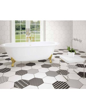 Luxury Tiles Annabelle Decor Pattern  Hexagon Tile