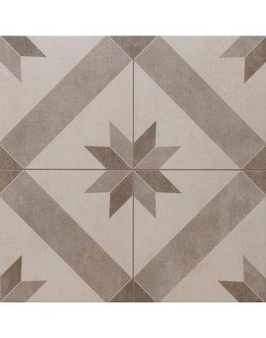 Luxury Tiles Star Grey Pattern Tile