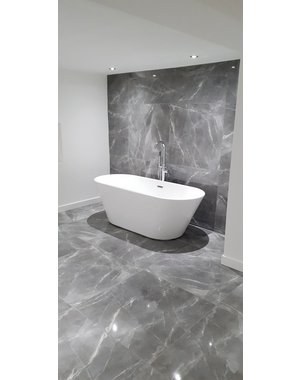 Luxury Tiles Velar Grey Polished Marble Effect Tile