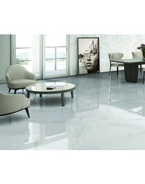 Luxury Tiles Gentle Calacatta Marble Effect 45x45cm floor tile