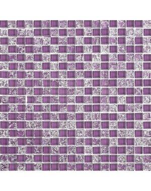 Luxury Tiles Purple Frost Glass Mix Mosaic Tile