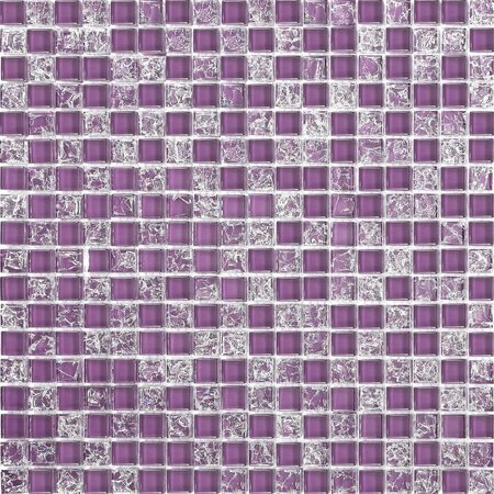 Luxury Tiles Purple Frost Glass Mix Mosaic Tile 30x30cm