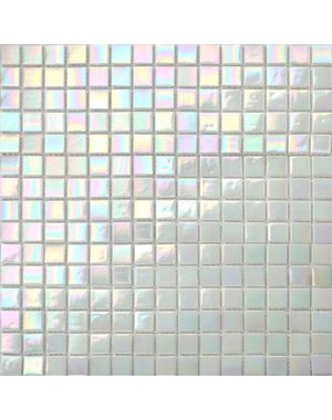 Luxury Tiles Lustre White Glass Mosaic Tile