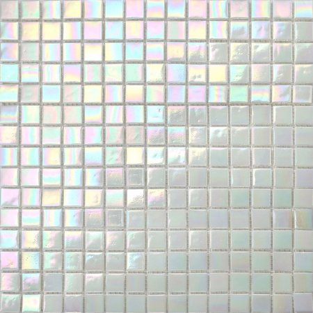 Luxury Tiles Lustre White Glass Mosaic Tile 327x327mm