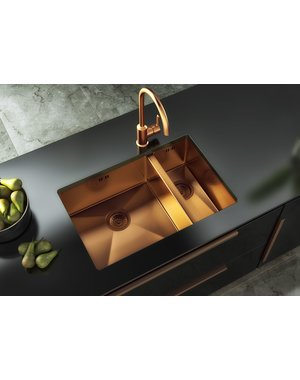Ellsi Ellsi Elite Copper Undermount Sink with base